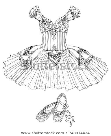 Illustratie dansen ballerina kleurrijk jurk Stockfoto © shawlinmohd