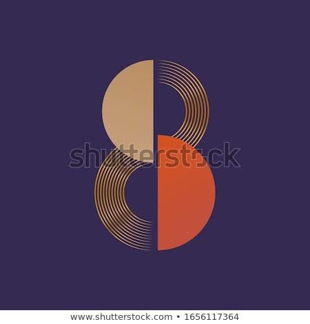 числа восемь символ дизайна знак синий Сток-фото © blaskorizov