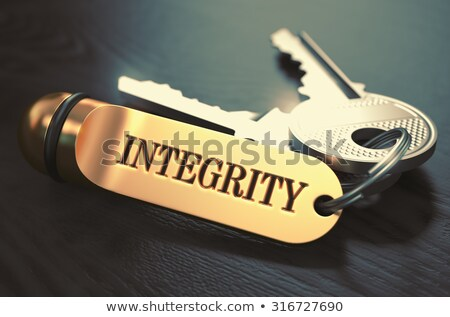 Integrity Concept. Keys with Golden Keyring. Stock photo © tashatuvango