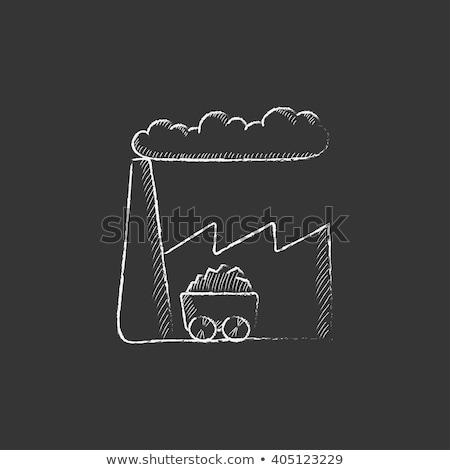 Usine icône craie dessinés à la main tableau noir Photo stock © RAStudio