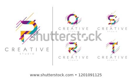Abstrato vetor logotipo letra r colorido salpico Foto stock © butenkow