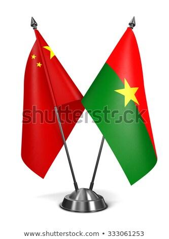 China and Burkina Faso - Miniature Flags. Stock photo © tashatuvango