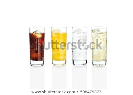 Foto stock: Vidro · bebida · fria · fatias · cal · fruto · beber