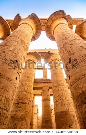 Karnak Columns. Luxor, Egypt Stock photo © Aikon