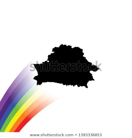 Беларусь гей карта стране гордость флаг Сток-фото © tony4urban