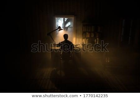 férfi · írógép · könyv · levél · portré · nyomtatott - stock fotó © Paha_L