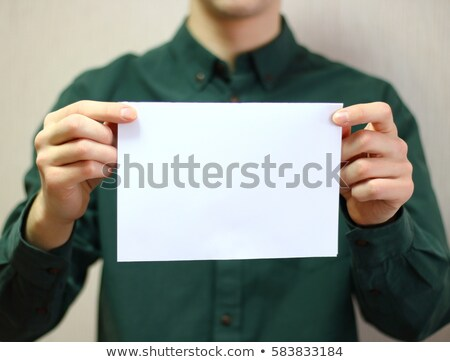 man show blank white sheet stock photo © paha_l