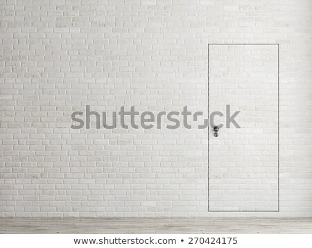 frames on white brick wall and reflections on floor Stock photo © Paha_L