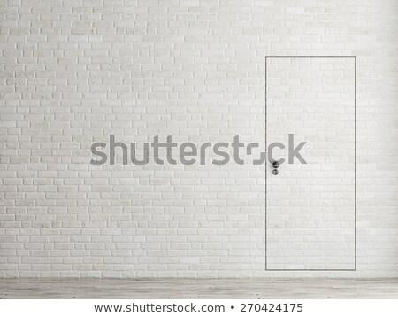 bianco · verniciato · muro · di · mattoni · costruzione · sfondo · pietra - foto d'archivio © paha_l
