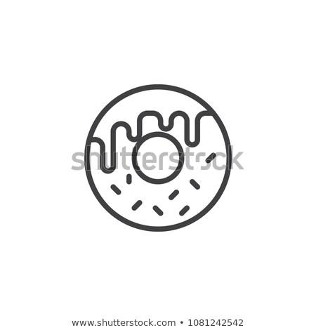 donut · lijn · icon · web · mobiele · infographics - stockfoto © RAStudio