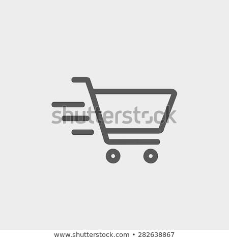 hızlandırmak · alışveriş · kız · binicilik · motosiklet - stok fotoğraf © elgusser
