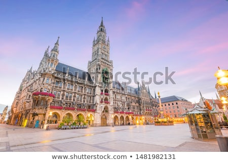 the clock on town hall at marienplatz in munich germany stock photo © vladacanon