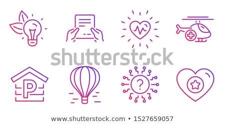levegő · mentő · vonal · ikon · háló · mobil - stock fotó © rastudio