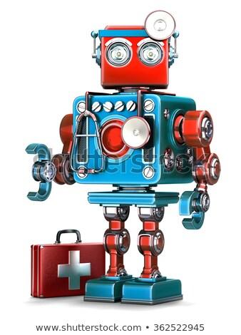 Medic robot technologii odizolowany biały Zdjęcia stock © Kirill_M
