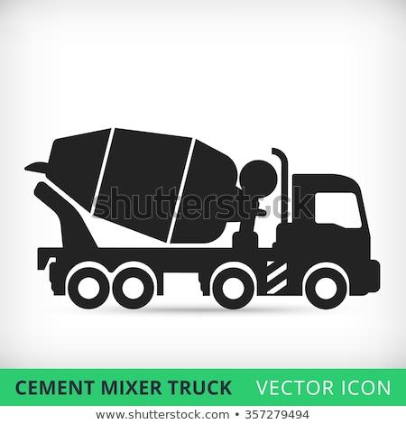 icono · concretas · mezclador · camión · botón - foto stock © maxpainter