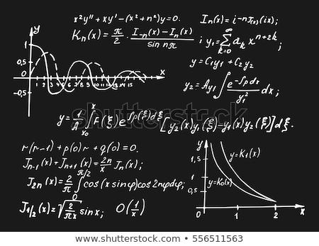 Math formulas on a blackboard. EPS 10 Stock photo © beholdereye