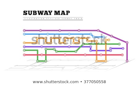 Stock photo: Metro map in the form of a train