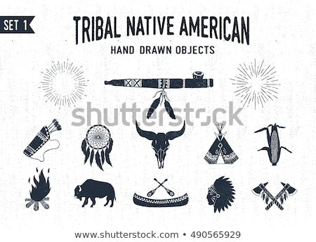 hand drawn indian tomahawk vintage illustration