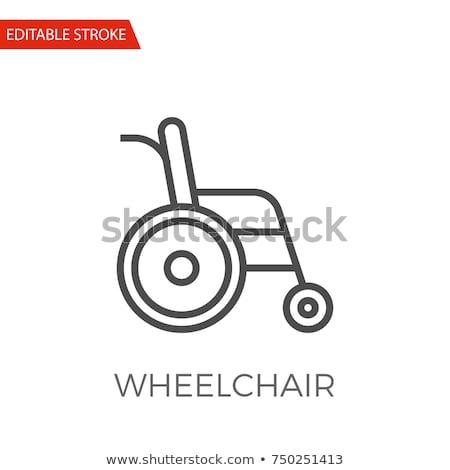 wheelchair line icon stock photo © rastudio