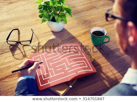 Maze Strategy Success Solution Determination Direction Concept Stock photo © teerawit