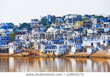 Lake and Landscape of Pushkar, India Stock photo © pzaxe