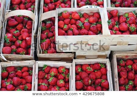 Friss piros eprek vásár piactér kész Stock fotó © jordanrusev