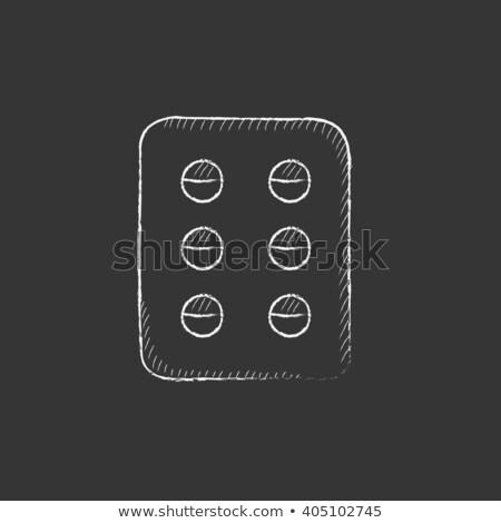 pillole · imballaggio · contenitore · icona · bianco · plastica - foto d'archivio © rastudio