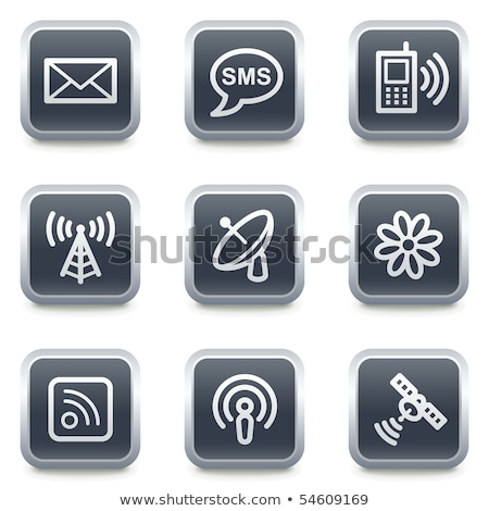 Square buttons with satellites Stock photo © bluering