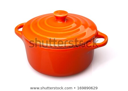 Orange casserole dish or crock pot Stock photo © ozaiachin