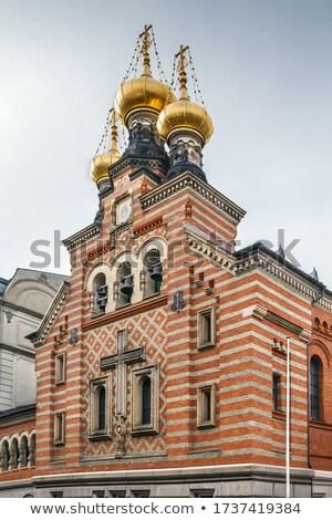 старые · православный · Церкви · антикварная · гор · здании - Сток-фото © prill