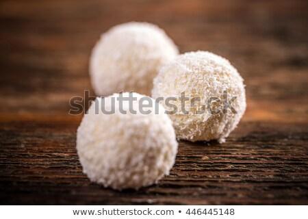Cioccolato cocco palla di neve cookies candy Foto d'archivio © Digifoodstock