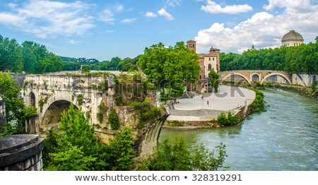 island on the Tiber river in Rome, Italy Stock photo © dezign80
