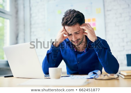 Troubled man in office Stock photo © nyul