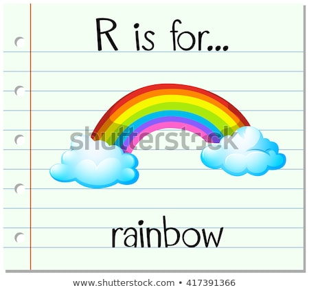 Flashcard letter R is for rainbow Stock photo © bluering