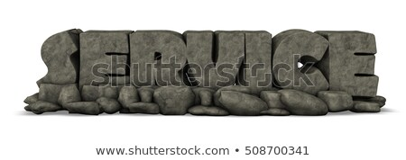 the word service made from stone - 3d illustration Stock photo © drizzd