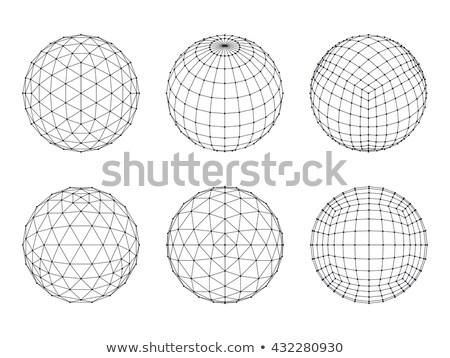 mértani · drótváz · háromszög · háló · vektor · terv - stock fotó © said