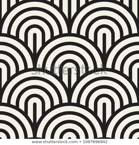 ベクトル シームレス 黒白 レトロな 幾何学的な アーク ストックフォト © CreatorsClub