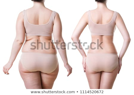 shape of woman in panties on white Stock photo © ssuaphoto