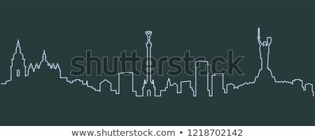 Skyline Oekraïne stadsgezicht rivier gebouw stad Stockfoto © joyr