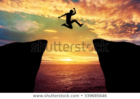 jump from a hill stock photo © orla
