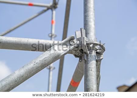 Pormenor andaime construção fachada Foto stock © 5xinc
