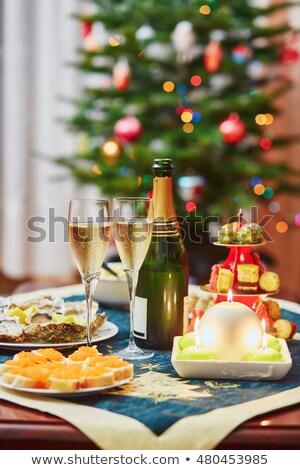 カキ レストラン ディナー シェル 白 食べる ストックフォト © janssenkruseproducti