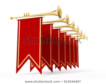 trumpet with flag stock photo © andrei_