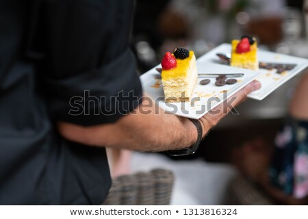 Sweet Chocolate Dessert Served on a Plate Stock photo © dariazu