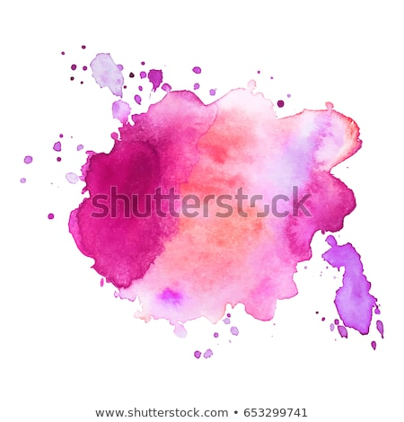 pink watercolor splash of ink vector design illustration Stock photo © SArts