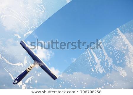 Schone Windows illustratie schoonmaken spons oplossing Stockfoto © adrenalina