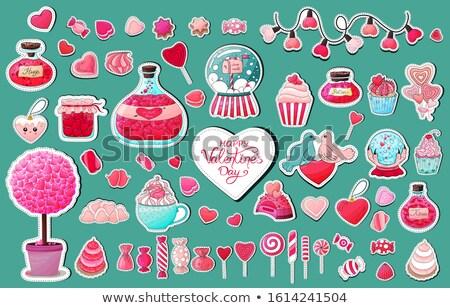Valentine etiket örnek dondurma biçim kalp Stok fotoğraf © kali