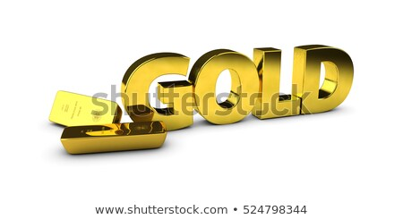 Illustration of Gold bars concept for biussness isolated background Stock photo © tussik