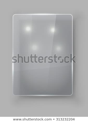 Rettangolare verticale vetro piatto vettore modello Foto d'archivio © tuulijumala