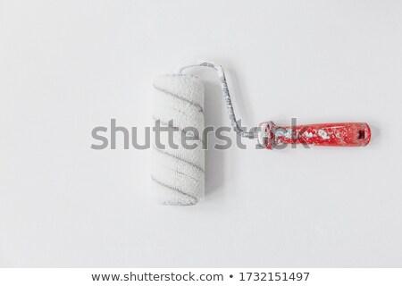 usado · pintar · velho · isolado · branco · edifício - foto stock © taigi